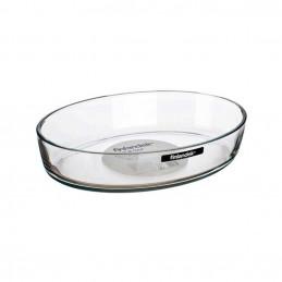Plat ovale en verre 28x19cm