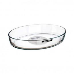 Plat ovale en verre 33x22cm