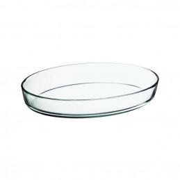 Plat ovale en verre 38x25cm