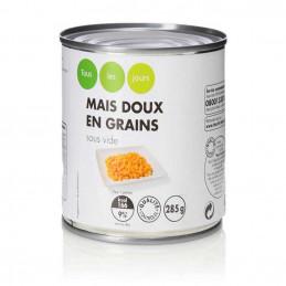 Maïs doux en grains sous...