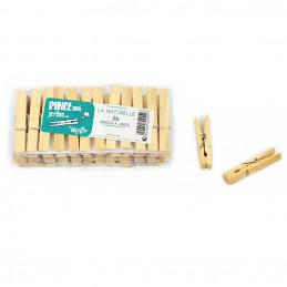 36 Pinces à linge en bois