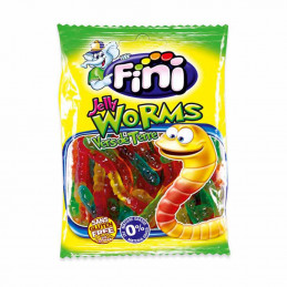 Bonbons fizzy jelly worms 100g