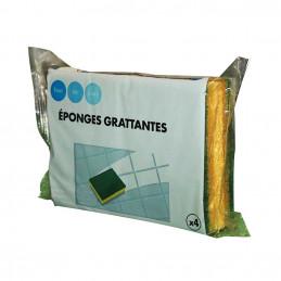 4 Eponges végétales grattantes