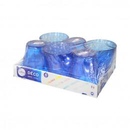 Verre Picardie bleu 25cl x6pcs