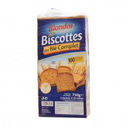 Biscottes au blé complet 750g