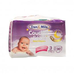 Couches bébé midi 5-9kg 36pcs