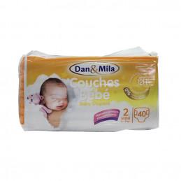 Couches bébé mini 3-6kg  40pcs