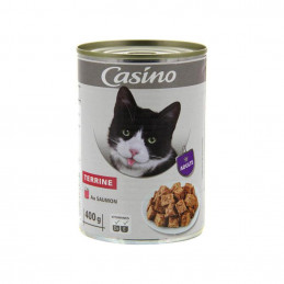 Terrine pour chat au saumon...