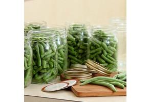 Conserves de légumes verts